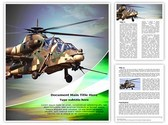 Attack helicopter Template