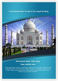 Indian Taj Mahal Editable Word Template