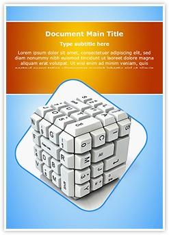 Keyboard Cube Editable Word Template