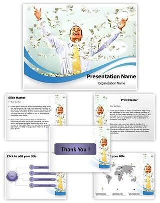 Falling Money Editable PowerPoint Template