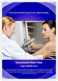 Mammogram Test Editable Word Template