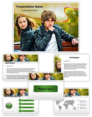 Emotional stress Editable PowerPoint Template