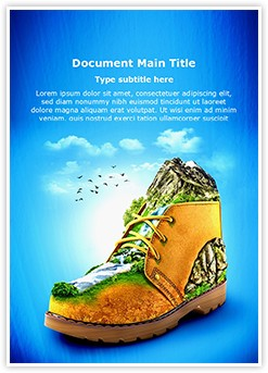 Mountaineering Shoes Editable Word Template