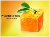 Cube orange Editable PowerPoint Template