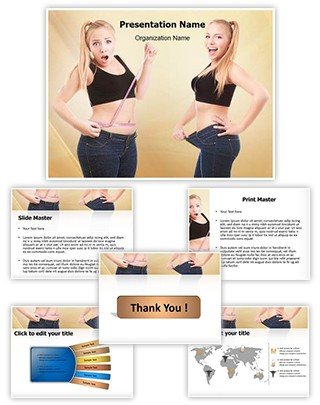 Weight loss Editable PowerPoint Template