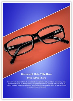 Eye Glasses Editable Word Template