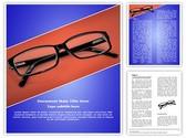 Eye Glasses Template
