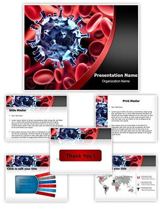 Virus in blood Editable PowerPoint Template