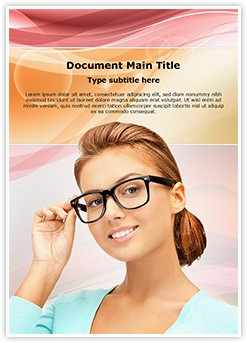 Eyesight Spectacles Editable Word Template