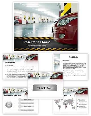 Parking lot Editable PowerPoint Template
