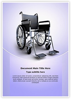 wheelchair Editable Word Template