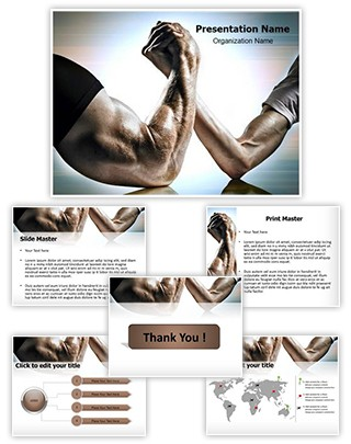 Strong Competition Editable PowerPoint Template
