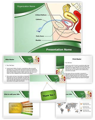 Catheter Female Editable PowerPoint Template