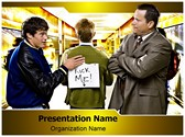 Teenagers in School Editable PowerPoint Template
