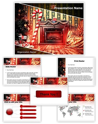 Christmas decoration Editable PowerPoint Template