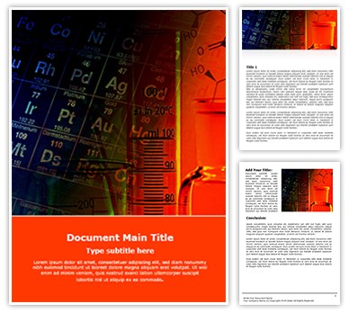 Chemistry Free Word Template