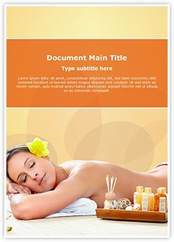 Spa massage Editable Word Template