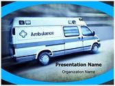 Emergency Ambulance Editable PowerPoint Template