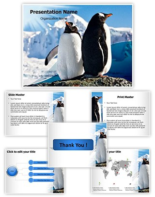 Penguins Editable PowerPoint Template