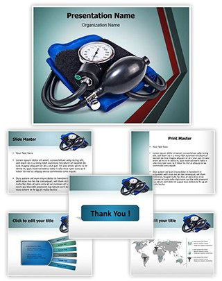 Blood pressure machine Editable PowerPoint Template
