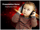 Child and Music PowerPoint Templates