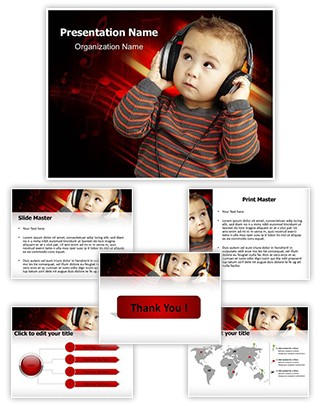 Child and Music Editable PowerPoint Template