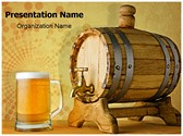 Beer and barrel Editable PowerPoint Template