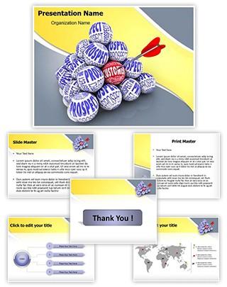 Hitting Target Editable PowerPoint Template