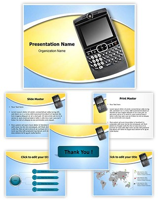 Personal digital assistant Editable PowerPoint Template