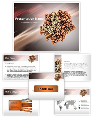 Thrombin blood clotting Editable PowerPoint Template