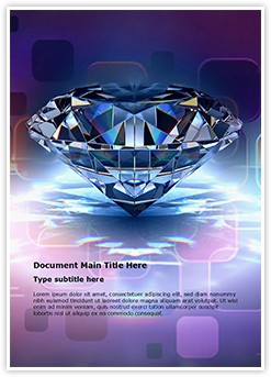 Diamond Editable Word Template