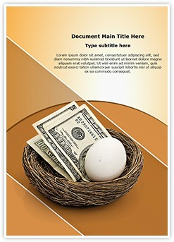 Retirement savings Editable Word Template