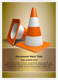 Road Cones vlc Editable Word Template