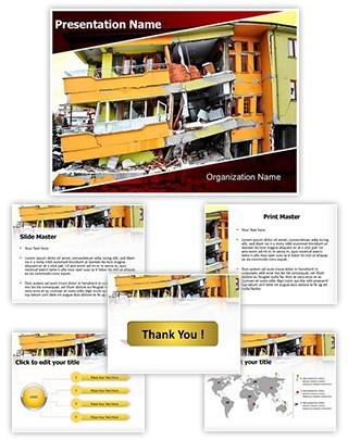 Earthquake Editable PowerPoint Template
