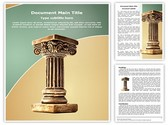 Roman Pillar Editable Word Template