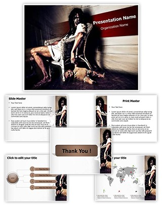 Possessed Woman Editable PowerPoint Template