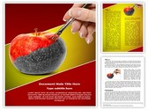 Painting Apple Editable Word Template