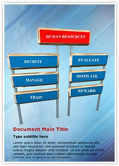Human resource management Editable Word Template