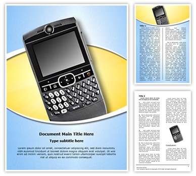 Personal digital assistant Editable Word Document Template