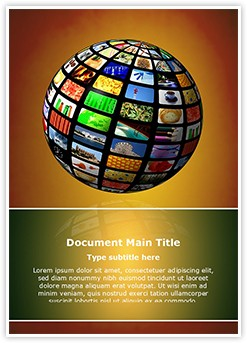 Picture Sphere Editable Word Template