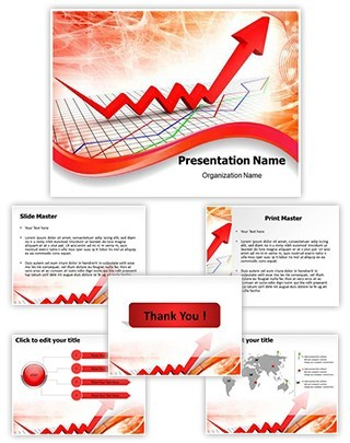Rising Finance Graph Editable PowerPoint Template