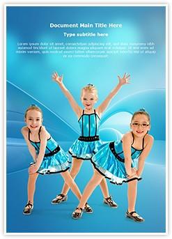 Tap Dancing Girls Editable Word Template