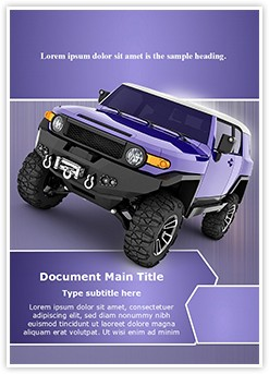 Sport Utility Vehicle Editable Word Template