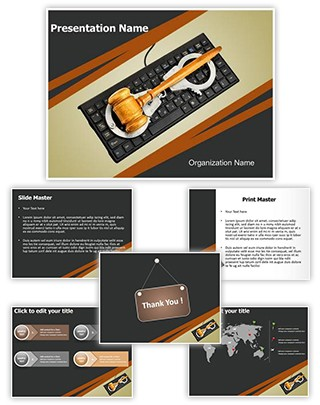 Cyber Law Concept Editable PowerPoint Template