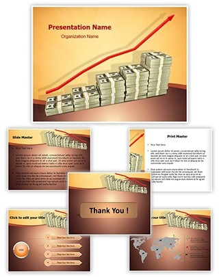 Increase in money Editable PowerPoint Template