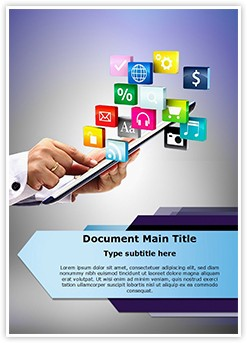Tablet PC Application Editable Word Template