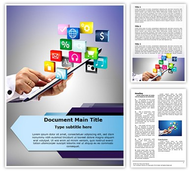 Tablet PC Application Editable Word Document Template