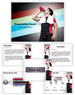 Athlete Dehydration Editable PowerPoint Template
