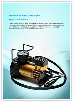 Car Air Compressor Editable Word Template