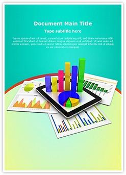 Tablet Spreadsheet Graph Editable Word Template